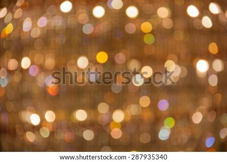 Bokeh multiple colors of light the lamp. - stock photo