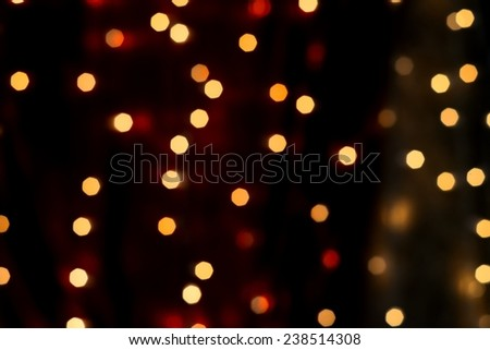 bokeh of Christmas - stock photo