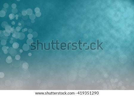 Bokeh on blue background - stock photo