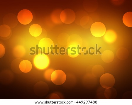 Bokeh on gold light blurred background