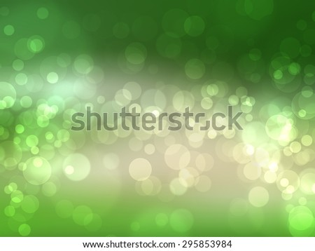 Bokeh on green blurred background