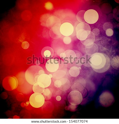 Bokeh on rough red and purple background - stock photo