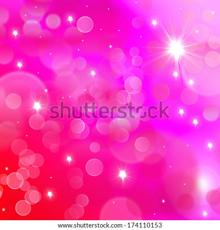 Bokeh pink square background in bright colours