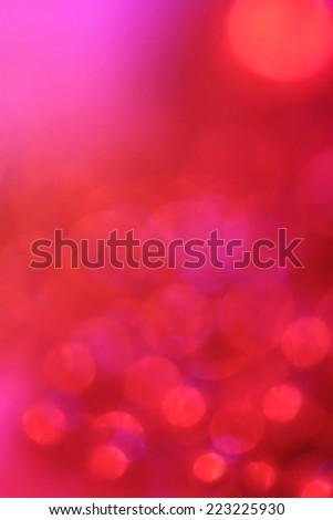 Bokeh red lights Christmas background - stock photo