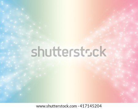Bokeh star on blue vintage background, space background - stock photo