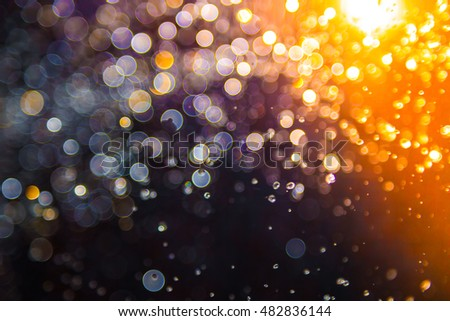 Bokeh water with light background