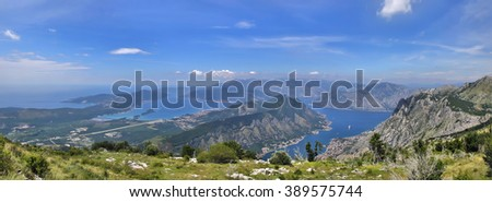 Boko-Kotor Bay View in Montenegro - stock photo