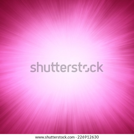 bold bright white sunburst design on hot pink background with zoomed in effect border, blank product display background - stock photo