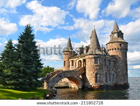 Boldt Castle Power House, One Thousand islands, New York State, USA. - stock photo