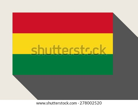 Bolivia flag in flat web design style. - stock photo
