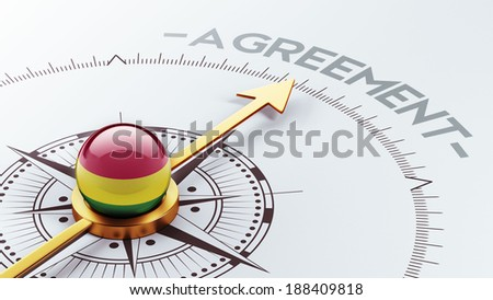 Bolivia High Resolution Agreement Concept - stock photo
