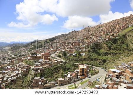 bolivia/la pas/journey - stock photo