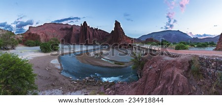 Bolivia landscape - stock photo