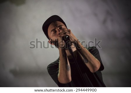 "Bollate (Italy) 24/07/2013: Concert of musician and singer Woodkid the ""Festival of VIlla Arconati"""