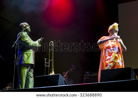 "Bollate (Italy) 07/14/2015 - Concert of the legendary group ""Buena Vista Social Club"" in his latest world tour called ""Adios tour"", the Festival of Villa Arconati."