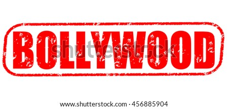 bollywood red stamp on white background. - stock photo