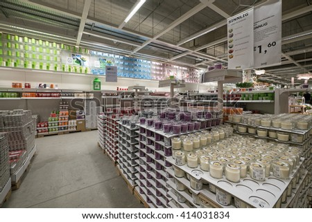 BOLOGNA, ITALY - APRIL 23, 2016: Interior view inside IKEA store. IKEA is the world's largest furniture retailer. Video d'archivio  - stock photo