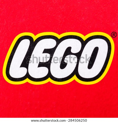 BOLOGNA, ITALY - JUNE 2, 2015: Lego logo printed on Lego box. Lego is a popular line of construction toys popular with kids and collectors worldwide. - stock photo