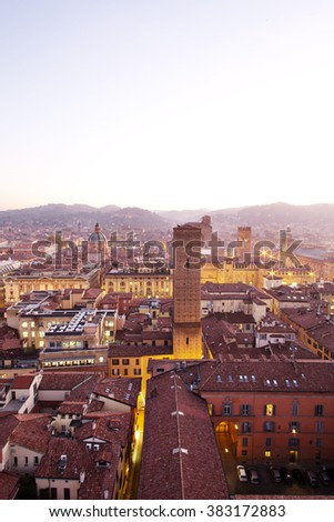 Bologna Old City View