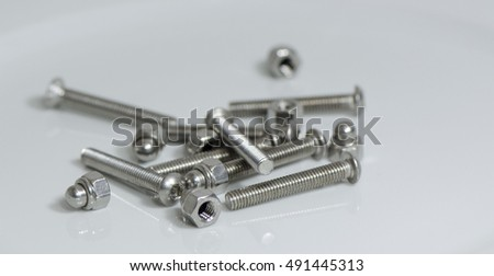 Bolt and nut of stainless steel