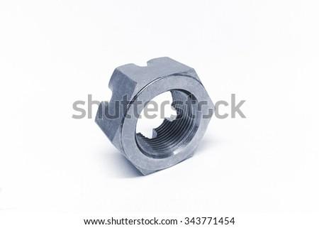 bolt isolated on white background - stock photo