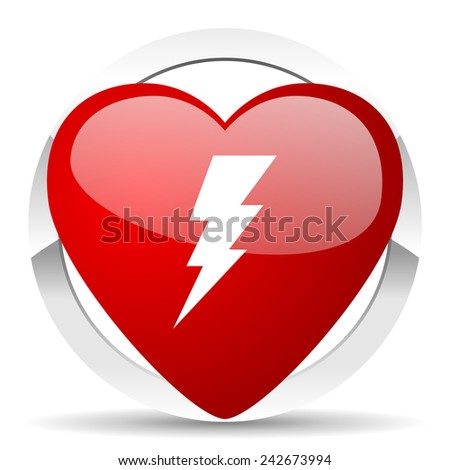 bolt valentine icon flash sign