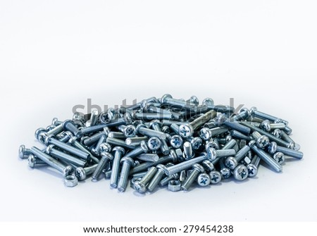 Bolts and nuts background - stock photo