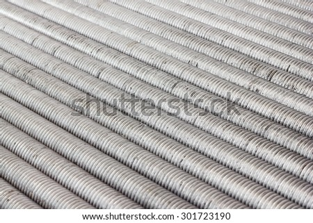 Bolts components of steel construction for industry. - stock photo
