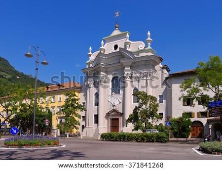 Bolzano in Italy, Abbey Muri-Gries - stock photo