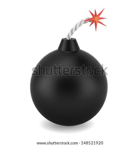 Bomb. 3d illustration on white background  - stock photo