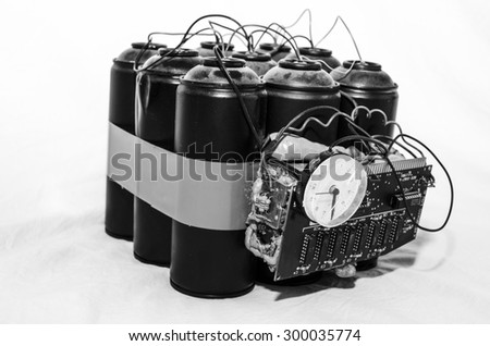 bomb gas terrorism - stock photo