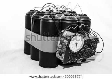bomb gas terrorism - stock photo