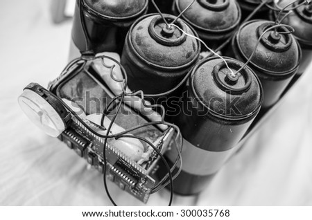 bomb gas terrorism object - stock photo