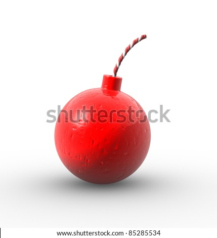 Bomb on a white background. 3d render illustration