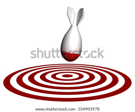 Bomb on target direct hit - stock photo