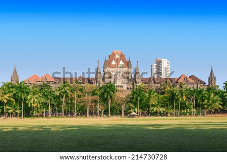 Bombay High Court at Mumbai is one of the oldest High Courts of India - stock photo