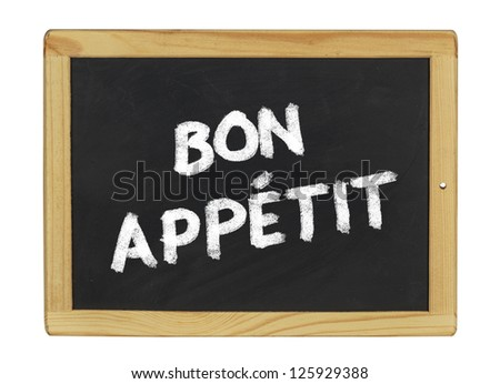 bon appetit on a blackboard