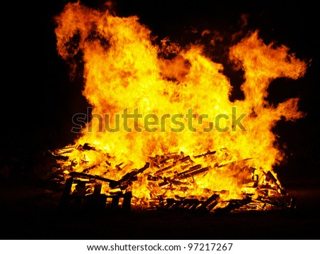 Bon Fire - stock photo