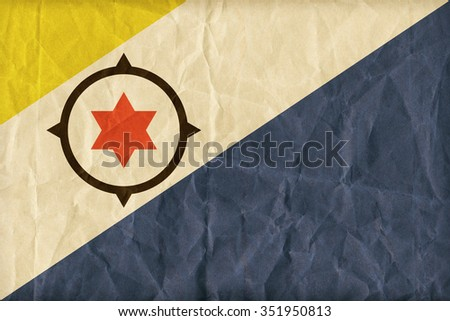 Bonaire flag pattern on paper texture,retro vintage style