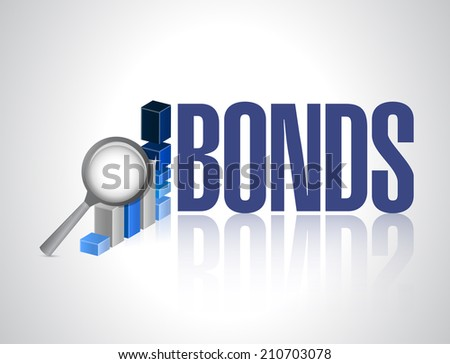 bonds business graph illustration design over a white background - stock photo