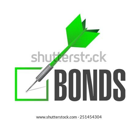 bonds check dart selection illustration design over a white background - stock photo
