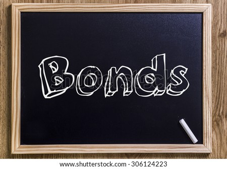 Bonds - New chalkboard with outlined text - on wood