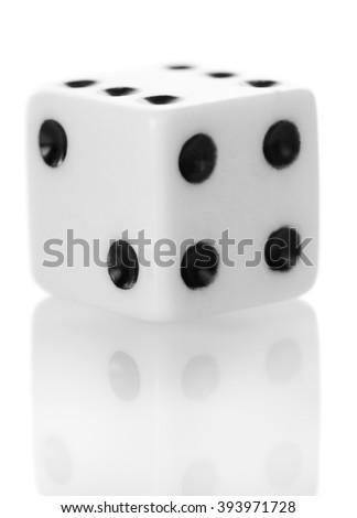 Bone games, isolated on white background. Close-up. - stock photo