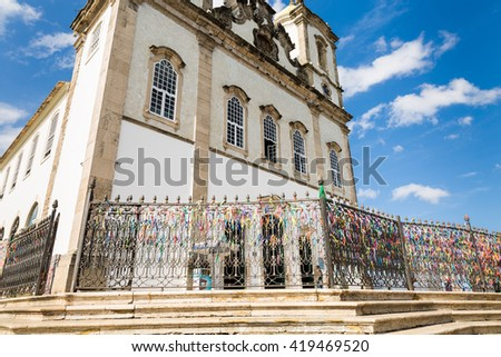 Bonfim church in Salvador, Bahia, Brazil - stock photo