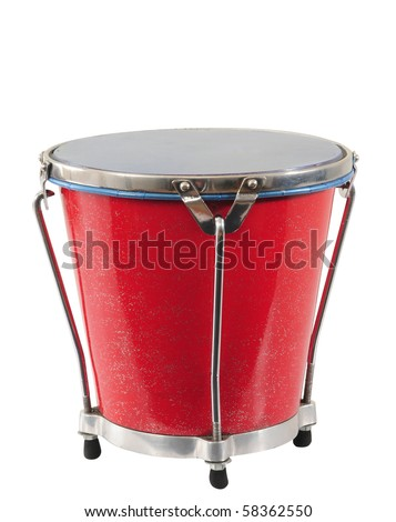 Bongo. Isolated - stock photo