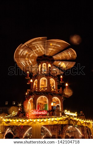 BONN, GERMANY - DECEMBER 4: Christmas market on December 4, 2012 in Bonn, Germany. There are 170 stall at this market. - stock photo