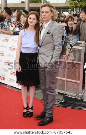 Bonnie Wright and Jamie Campbell Bower arriving for the National Movie Awards 2011, at Wembley Arena, London. 11/05/2011  Picture By: Steve Vas / Featureflash