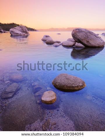 Bonsai Rock Lake Tahoe - stock photo