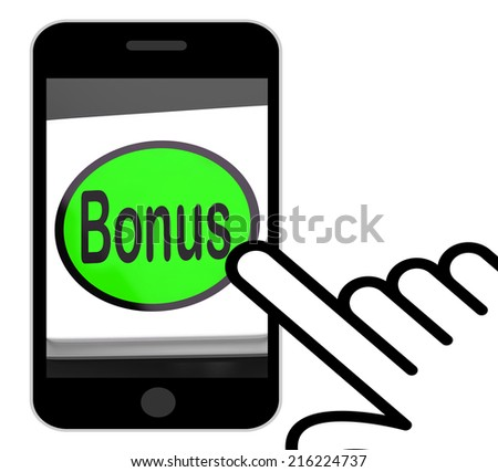 Bonus Button Displaying Extra Gift Or Gratuity Online