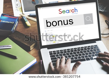 Bonus Extra Benefit Incentive Reward Money Finance Concept - stock photo